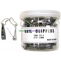 Nail Clippers finger Small Royal - LOWEST $0.33 pc - (Finger) with Chain -Made in Korea 72pcs/tub