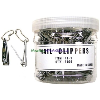 Royal Nail Clipper Small- LOWEST $0.33 pc - (Finger) with Chain - Korea 72pcs/tub