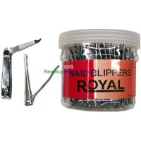 Royal Nail Clippers Large (Toe) - LOWEST $0.56pc - with File - Made in Korea 36pcs/tub