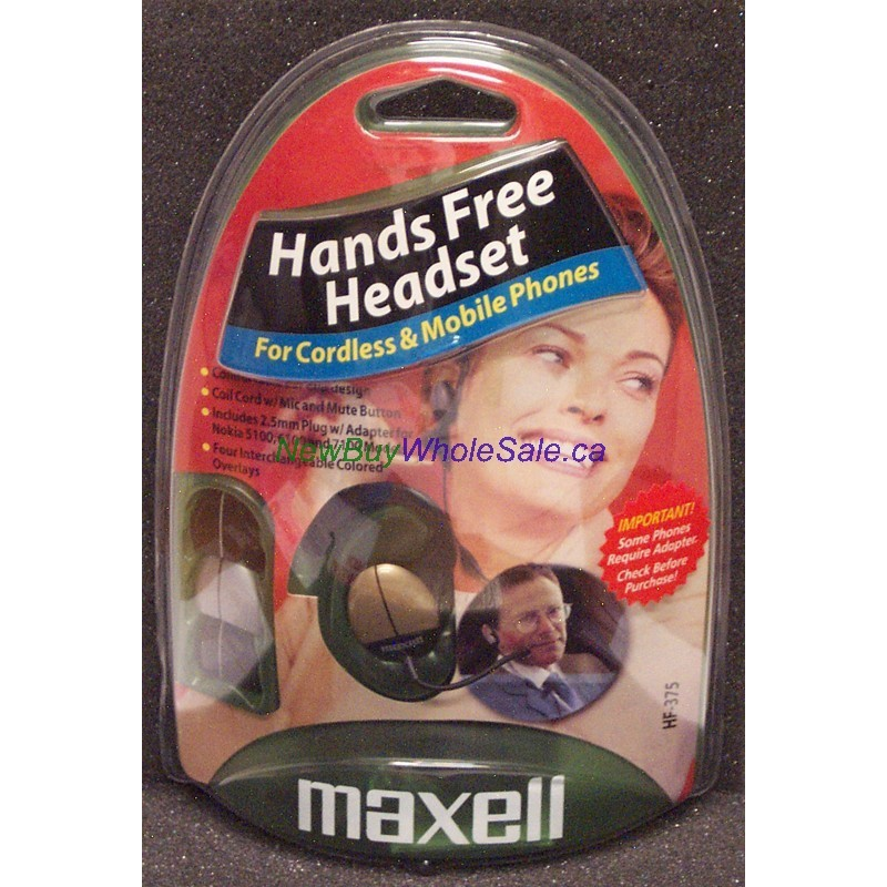 Maxell Handsfree Headset Lowest 2 99 For Mobile Phones Hf375 2 5mm 3 Point Plug Canada
