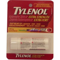 Tylenol Extra strength 10 caplets 500 mg. LOWEST $2.15