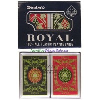 Royal 100% All Plastic Playing Cards -LOWEST $2.00 - Washable in Plastic Case 2pk 6x2