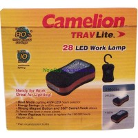 Camelion 24+4 LED Dual Work Lamp LOWEST $3.25. With Magnet and Swivel Hook. Battery Operated
