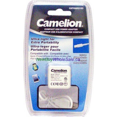 Camelion iPhone 5 USB wall charger. LOWEST $5.50