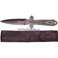 Throwing Knife Cross Design with nylon case 10 inches