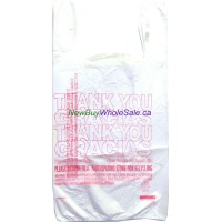 "Shopping Bags S4 HD 'Thank You' 1000 pcs/ctn 11.5"" x 22"" x 6.5"" X 0.491mil USA"