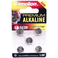 Camelion Watch Battery AG10, LR1130 5pk LOWEST $0.55