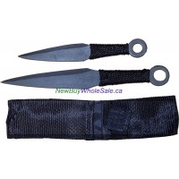 "Throwing Knife 2pc 8.5"" & 6.5"" with nylon case No. 216"