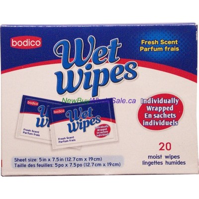 Wet Wipes Individualy Wrapped LOWEST $1.10 Fresh Scent 20pk