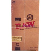 Classic RAW Rolling Paper 1 1/4 Size 24pk x 32 Leaves