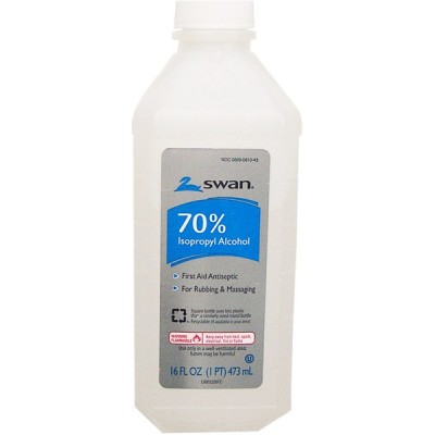 Swan 70% Isopropyl Alcohol First Aid Antiseptic 473ml 16oz
