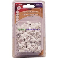 Cable Clips 8mm 80pcs White 3@$0.85