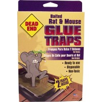 Dead End Baited Rat & Mouse Glue Traps 2pk USA LOWEST $1.35