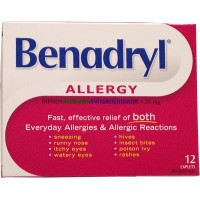 Benadryl Allergy 12 Caplet LOWEST $7.62