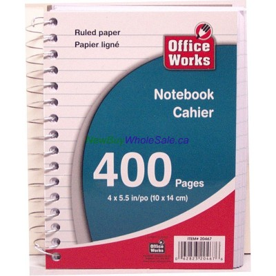 """Chubby Coil Notebook 400pgs 5""""x4"""""""