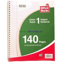 "Note Book Coil 8""x10.5"" 140 pages"
