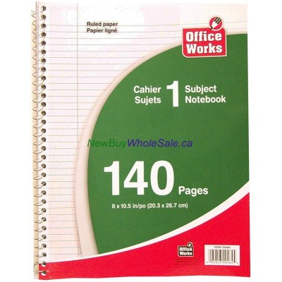 """Note Book Coil 8""""x10.5"""" 140 pages"""