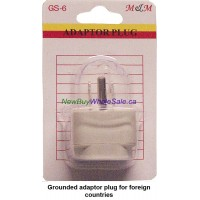 3 Pin Travel Adaptor for use in North America for all Plugs. LOWEST $1.50