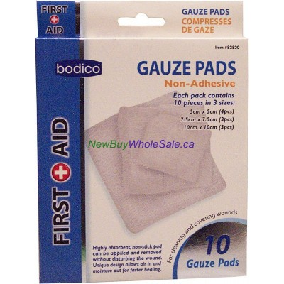 Gauze Dressing Pads 10 pieces in 3 sizes LOWEST $1.31