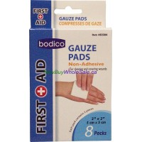 "Gauze Pads 8 pack 2"" x 2"" Bodico LOWEST $0.99"