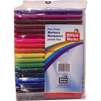 Fine Point Markers 18 pk Non toxic 3@$1.29