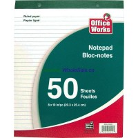 "Ruled Pad 8""x10"" 50 Sheet LOWEST $0.75"