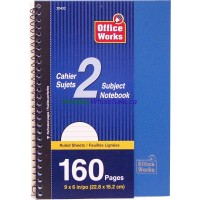 2 subject 160 pages Coil Book w/ perforated pages