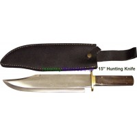 "15"" Hunting Knife w leather sheath"