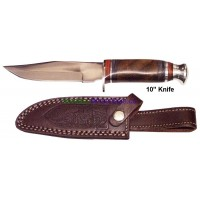 "10"" Hunting Knife w leather sheath H2"
