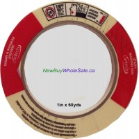 "Cantech Masking Tape 1"" x 60yds. Made in Canada LOWEST $1.39"