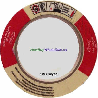 """Cantech Masking Tape 1"""" x 60yds. Made in Canada LOWEST $1.39"""