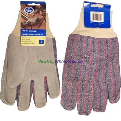 Leather palm Work gloves LOWEST $2.35