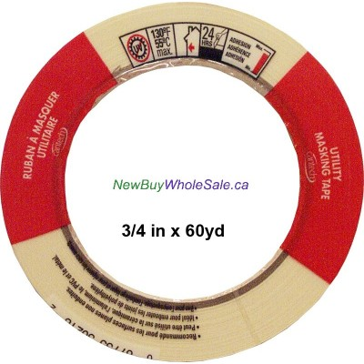 """Cantech Masking Tape 3/4"""" x 60yds. Made in Canada LOWEST $1.10"""