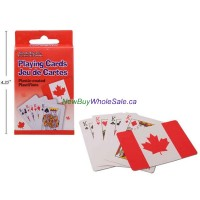 Canada Plastic Coated Playing Cards in box LOWEST 0.87