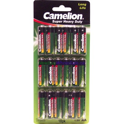 Camelion Super heavy Duty Long Life AA 18 pk LOWEST $1.69