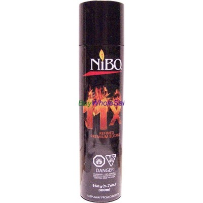 Nibo Butane Gas lighter Refill - LOWEST $1.99 - 11x Refined 162g 5.7oz