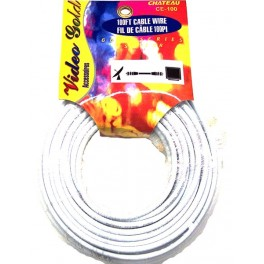 TV Cable White 100ft.