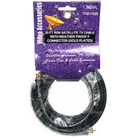 TV/Satellite Cable RG6 Black 25ft. - LOWEST $2.10