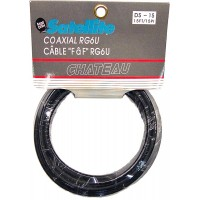 TV/Satellite Cable RG6 Black 15ft.