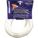 TV/Satellite Cable RG6 White 100ft