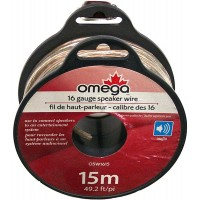 Speaker Wire 16 Gauge 49ft 15m Omega - LOWEST $6.50