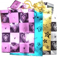 Medium Gift Bags 12pk Matt Design - LOWEST $0.25 bag -Assorted color and design .