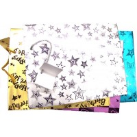 Gift Bags 12pk Large Matt Design . - LOWEST $0.40 bag - Assorted color and design