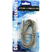 USB Cable B-A Tape - 6ft- LOWEST $1.60