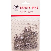 Safety Pins No.3, 50pcs- LOWEST $0.55