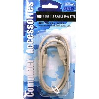USB Cable, B-A Type 3ft.- LOWEST $0.89