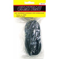 Telephone Extension Cord Black, Dual Jack 25ft - LOWEST $0.99
