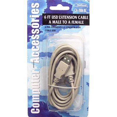 USB Extension Cable A Male to A Female 6ft.