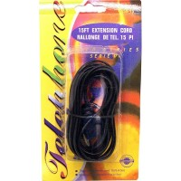 Telephone Extension Cord Black 15ft. - LOWEST $1.45