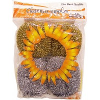 Scourers 4pk for Glassware and Scratch Free Surface 2gold/2silver